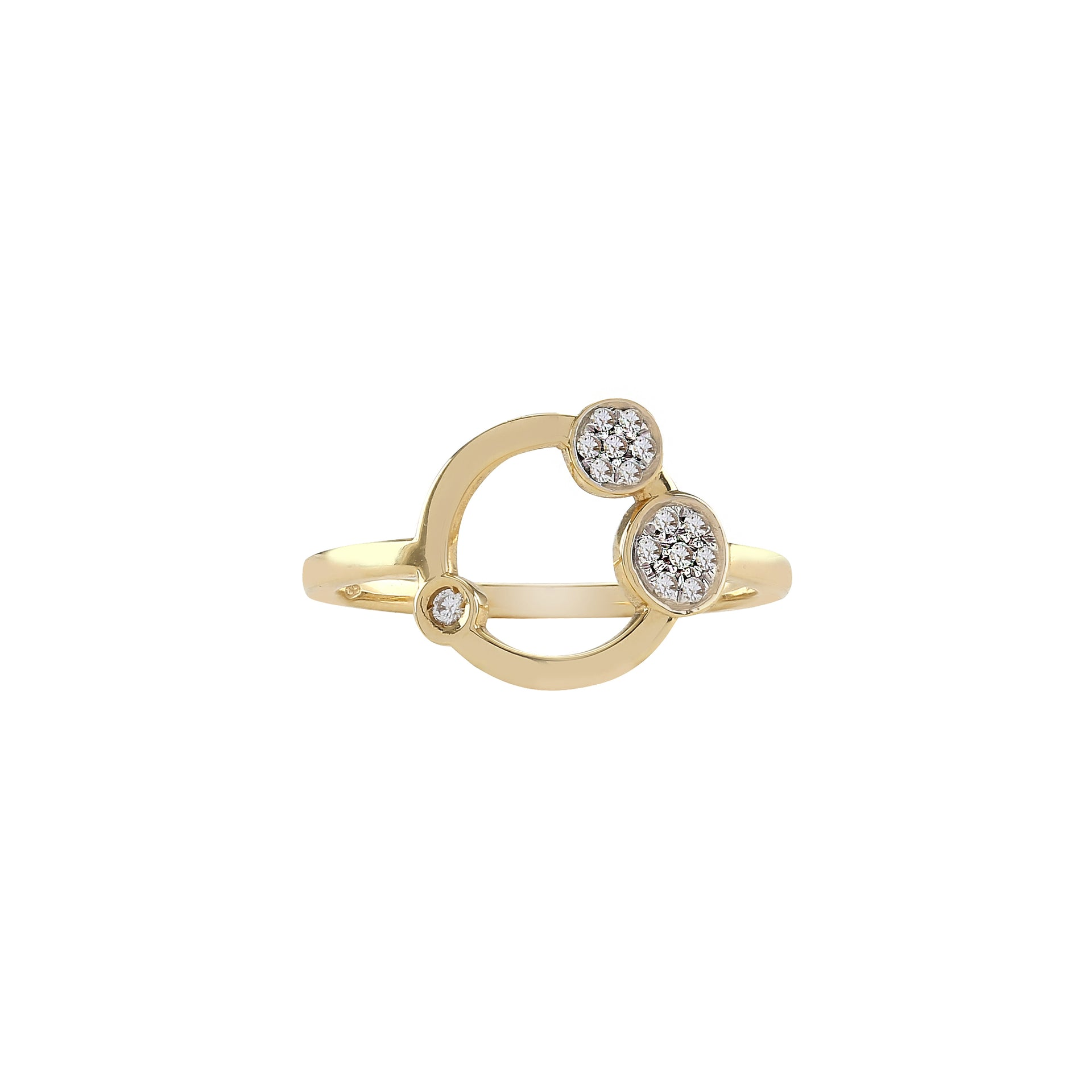 Galaxy ring yellow gold with brilliants