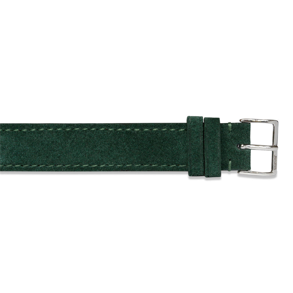 Embracelet bottle green with 18k gold buckle