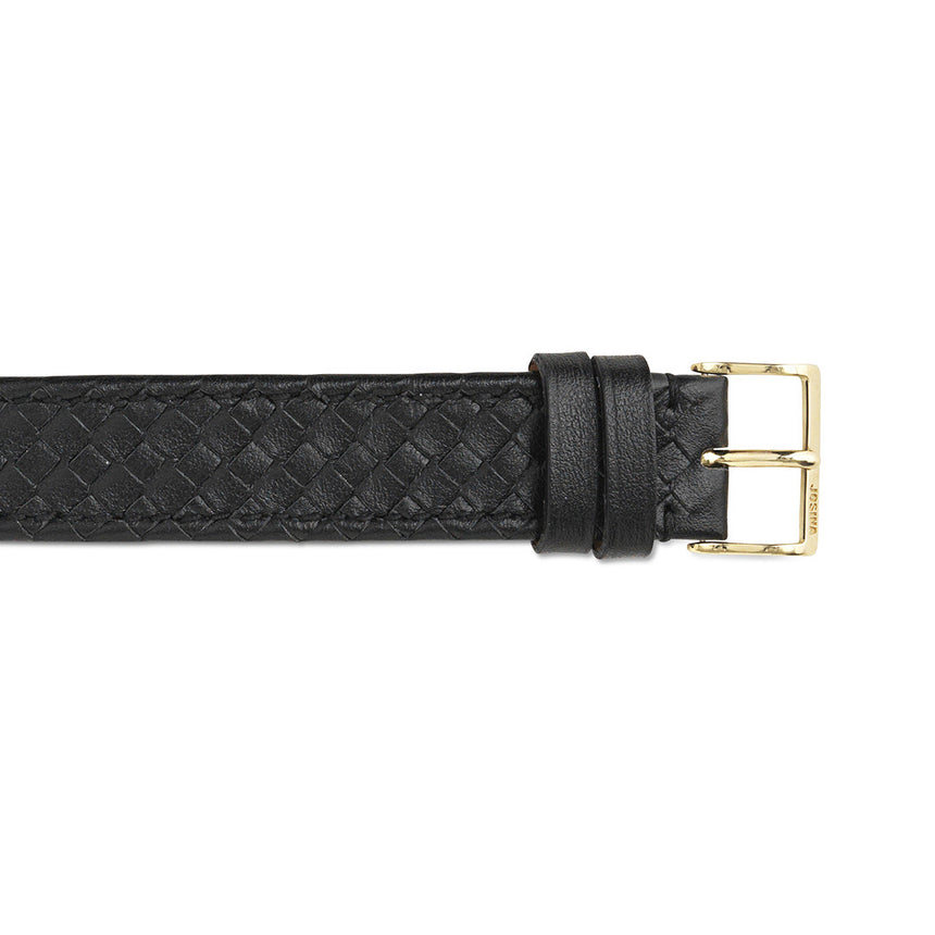 Embracelet woven with 18k gold buckle