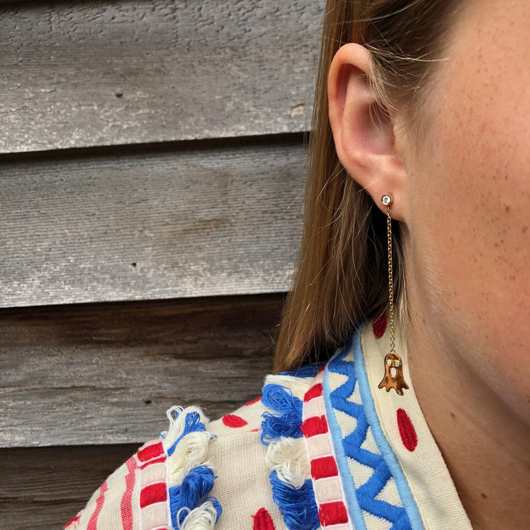 Boo Ear jacket & Flash earring