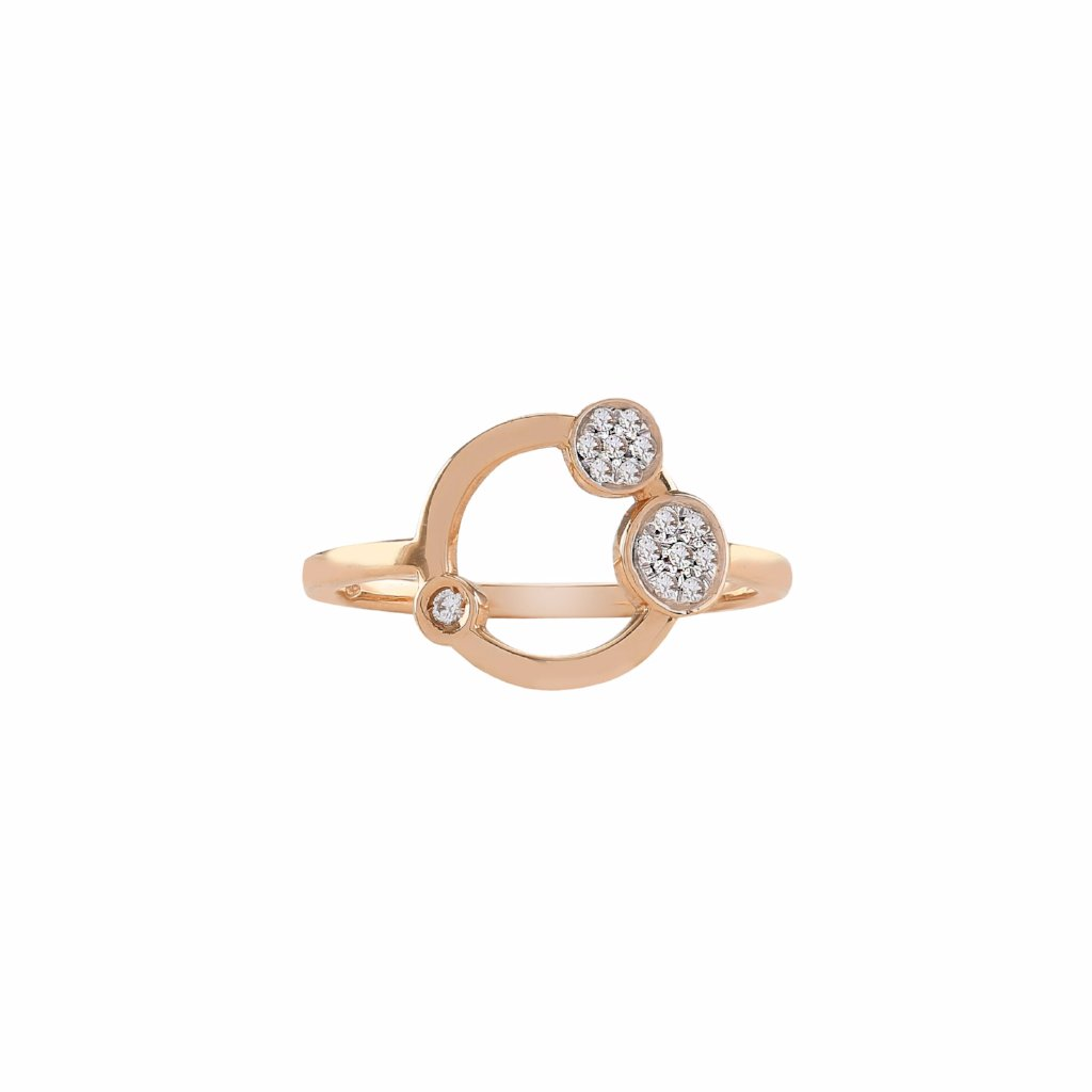Galaxy ring rose gold with brilliants