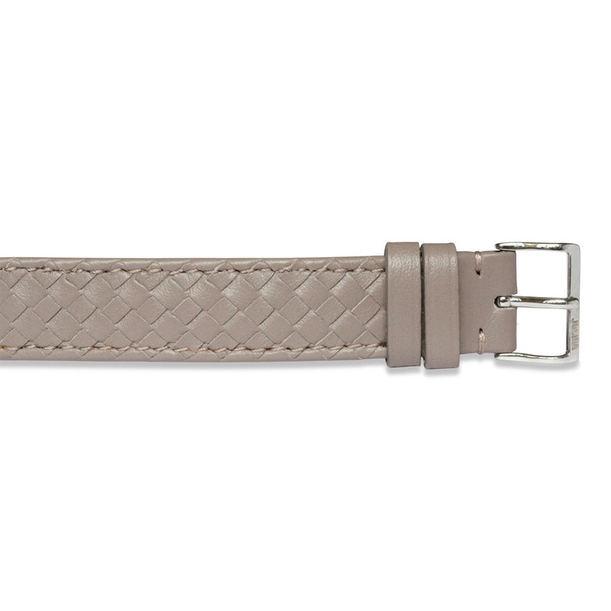 Embracelet woven Warm grey with 18k gold buckle