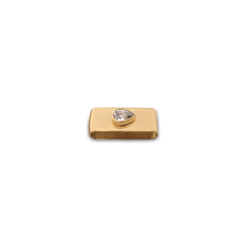 Charm in 18-karat yellow gold with champagne colored diamond