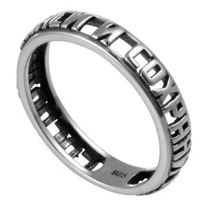Sterling Silver 925  Russian cross Ring