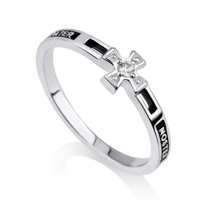 Sterling Silver 925  Cross Ring