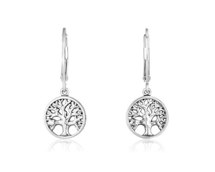 Sterling Silver 925  Tree Of Life Earring