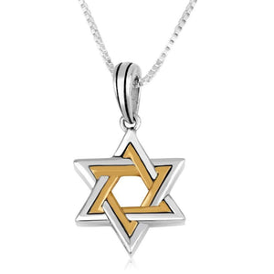 Goold Silver  Star of david Pendant