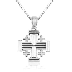 Jerusalem cross pendant from sterling silver 925 made in the Holy Land