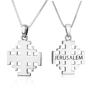 Jerusalem cross pendant 925 Sterling Silver made in the Holy Land