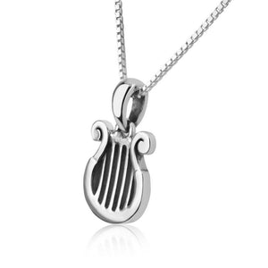 Sterling Silver David's Harp Necklace