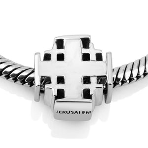 Sterling Silver Jerusalem Cross  Bead Charm