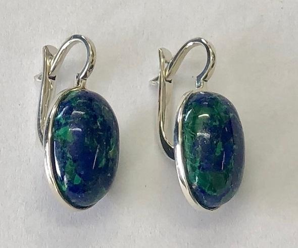 Sterling Silver 925 Azorite Jewellery Earring