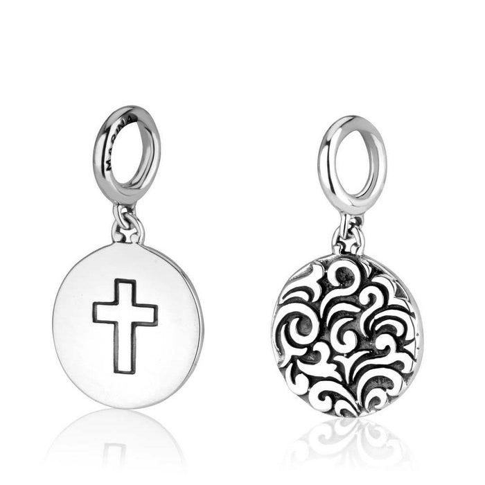 Sterling Silver Cross Hang Bead Charm