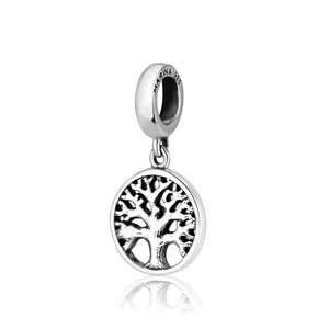 Sterling Silver 925  Tree Of Life Hang Bead Charm