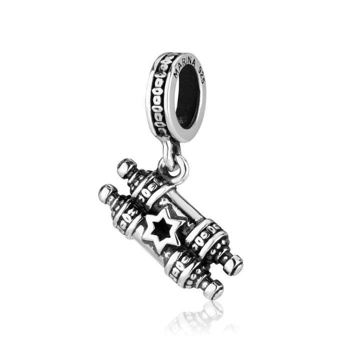 Sterling Silver 925  Mezuza Hang Bead Charm