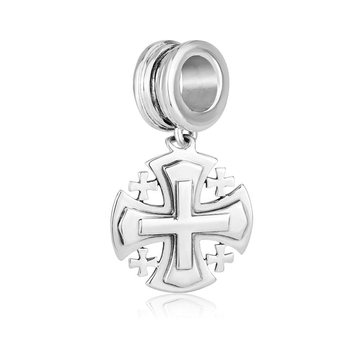 Jerusalem Cross charm from Sterling silver 925 made in the Holy Land