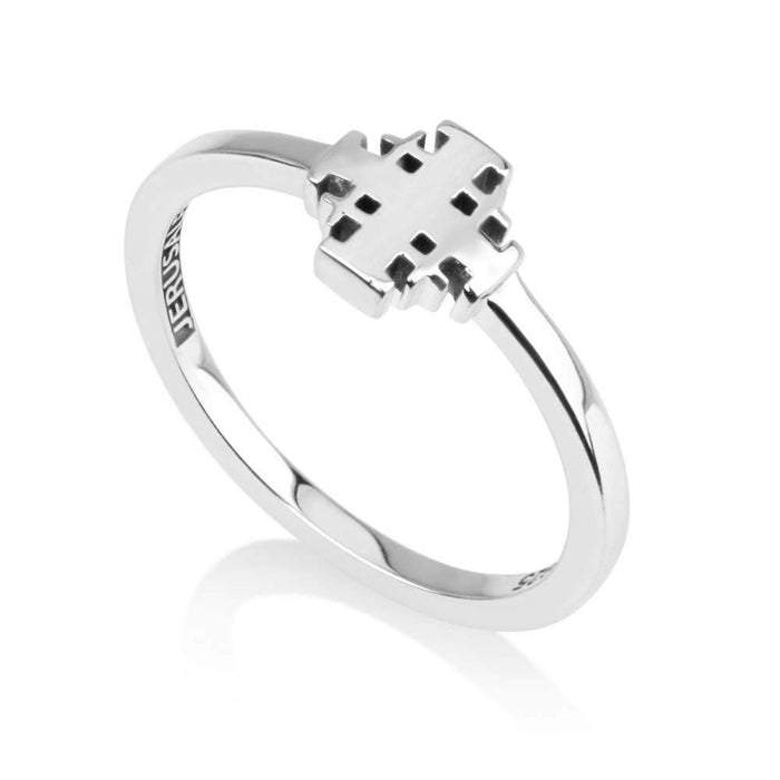 Sterling Silver 925  Jerusalem cross Ring