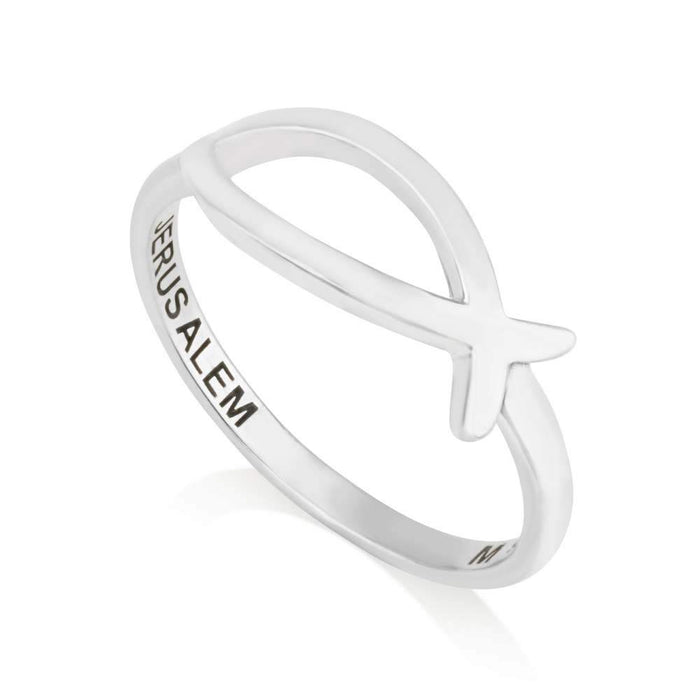 Fish ring from sterling silver 925 made in the Holy Land