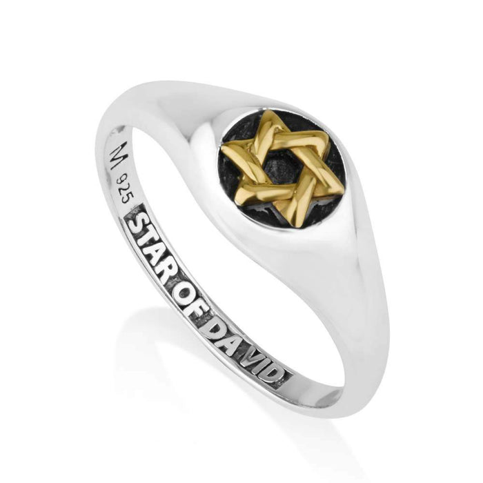 Sterling Silver 925  Star of david Ring
