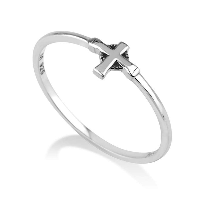Cross Silver Ring made in the Holy Land