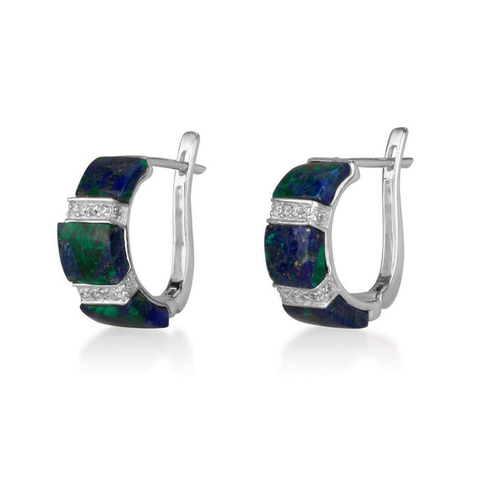 Sterling Silver 925 Azorite-Zircon Jewellery Earring