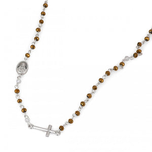 Gold Thin Rosary Necklace