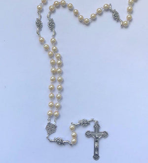 FWP Mother of pearl & FWP Rosary Necklace