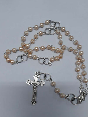 FWP Wedding Rosary Necklace