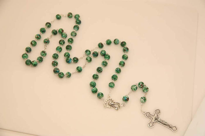 Malachite Rosary Necklace