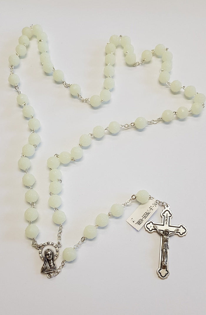 Rosary Necklace Mother of pearl & FWP Rosary Necklace