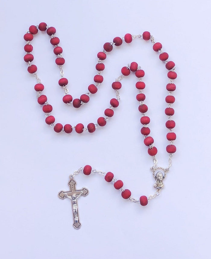 Wood Rosary Wood Necklace