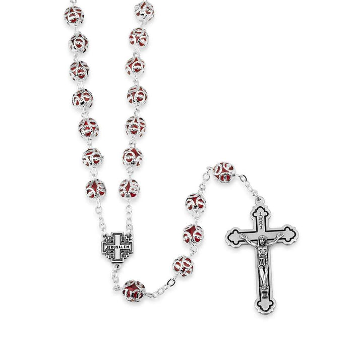 Red Rosary Necklace