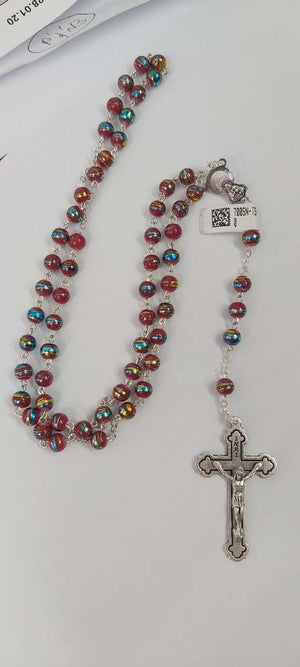 Ruby Rosary Necklace