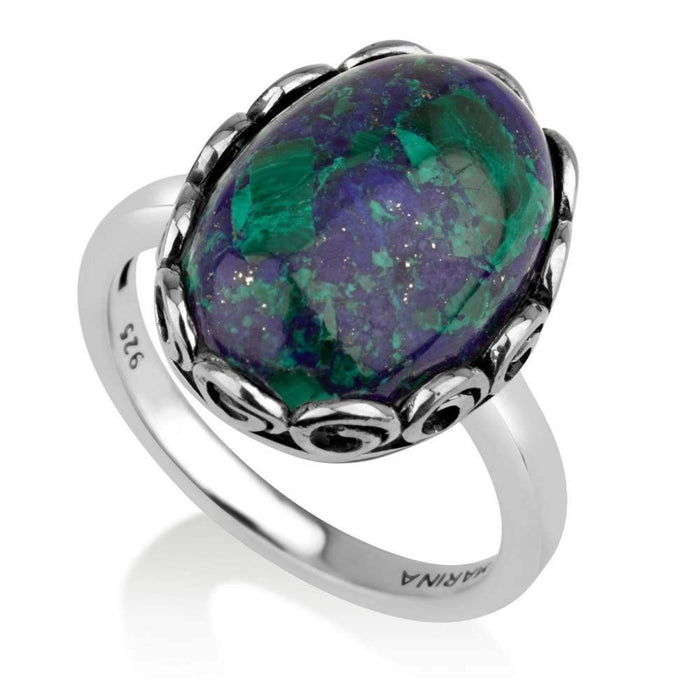 Sterling Silver 925 Azorite Jewellery Ring