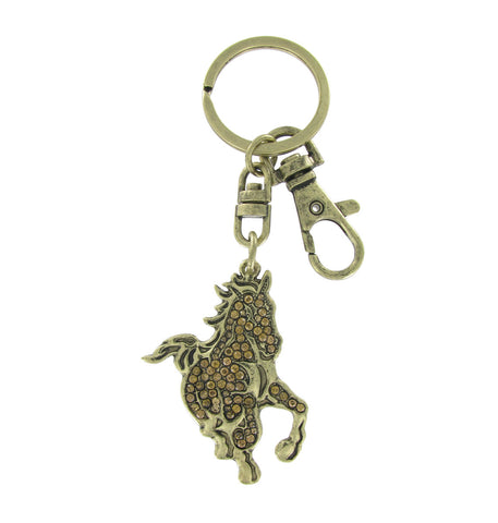 Large Topaz Crystal Cal Poly Mustang Key Charm