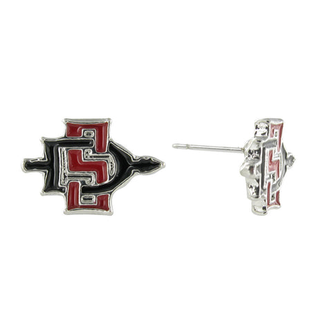 San Diego State University Mini SD Logo Stud Earrings