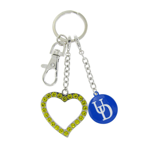 Royal Blue Delaware UD Love Keychain