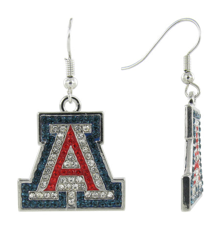 "Crystal Arizona ""A"" Fish Hook Earrings"