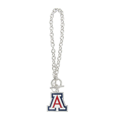 "Enamel Arizona ""A"" Toggle Chain Bracelet"