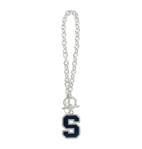 Navy Syracuse S Logo Toggle Chain Bracelet