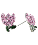Spring's Mini Tulip Stud Earrings - Pink