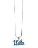 Light Blue Crystal UCLA Logo Pendant Necklace