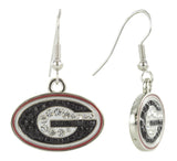 Crystal Georgia G Logo Fish Hook Earrings