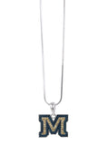 Crystal Montana State M Pendant Necklace