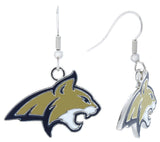 Enamel Montana State Bobcats Fish Hook Earrings