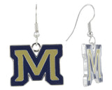 Enamel Montana State M Fish Hook Earrings