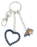 Montana State Bobcats Love Combo Key Chain with Navy Heart
