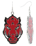 XXL Red Enamel Arkansas Razorbacks Game Day Fish Hook Earrings