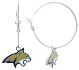 Enamel Montana State Bobcats Hoop Earrings