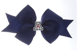 Enamel Arizona A Med Navy Ribbon Bow Alligator Clip